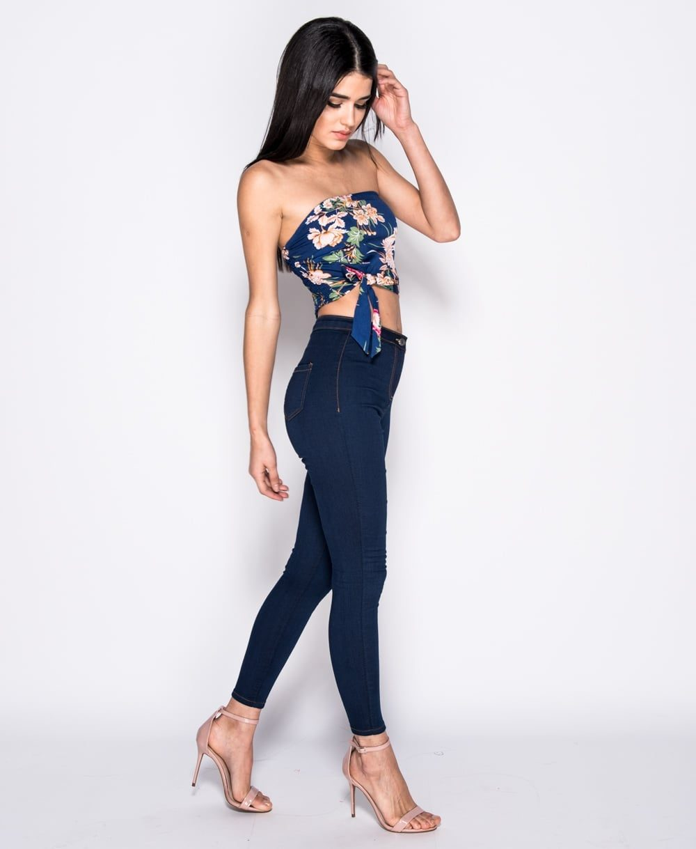 Indigo high waisted skinny jeggings Online shopping mauritius